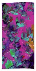 Razberry Ocean Of Butterflies Hand Towel