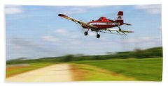 Bath Towel featuring the photograph Razorback Flyby - Crop Duster - Ag Pilot by Jason Politte