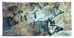 Wild Boars Bath Towel by Larry Campbell