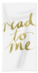 Read To Me Gold- Art By Linda Woods Hand Towel