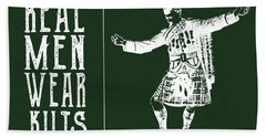 Real Men Wear Kilts Hand Towel by Heather Applegate