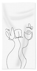 Really Loose Drawing  Bath Towel by Keshava Shukla