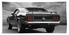 Rear Of The Year - '69 Mustang Bath Towel by Gill Billington
