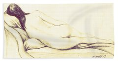 Reclining Nude Bath Towel