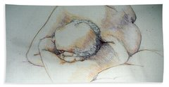 Reclining Study 3 Hand Towel