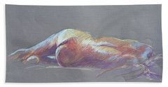 Reclining Study 5 Hand Towel
