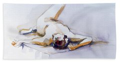 Reclining Study 6 Hand Towel