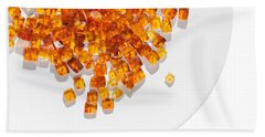 Hand Towel featuring the photograph Rectangular Stones Yellow Amber  by Andrey  Godyaykin