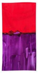 Red Above Purple Bath Towel