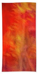 Red Abstract Hand Towel