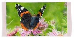 Red Admiral Hand Towel