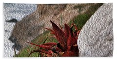Red Aloe Vera By The Sea Hand Towel