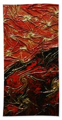 Red And Black Hand Towel