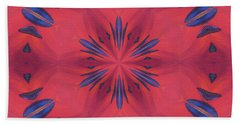 Hand Towel featuring the mixed media Red And Blue by Elizabeth Lock