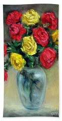 Red And Gold Luminesence  Hand Towel by Randy Burns