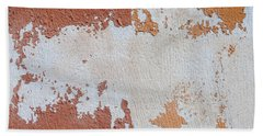 Red And Orange Abstract Bath Towel