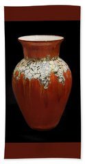Red And White Vase Hand Towel