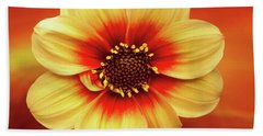 Red And Yellow Inspiration Bath Towel