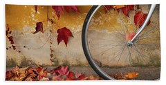 Bath Towel featuring the photograph Red Autumn by Yuri Santin