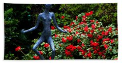 Bath Towel featuring the photograph Red Azalea Lady by Susanne Van Hulst