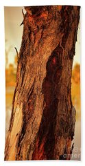 Bath Towel featuring the photograph Red Bark by Douglas Barnard