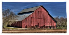 Hand Towel featuring the photograph Red Barn by Jim and Emily Bush