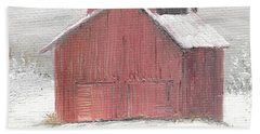 Red Barn Bath Towel