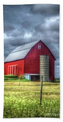 Hand Towel featuring the photograph Red Barn by Randy Pollard