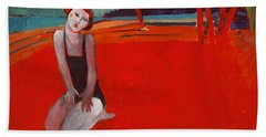 Red Beach Two Bath Towel