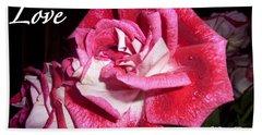 Red Beauty 3 - Love Bath Towel