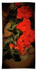 Bath Towel featuring the photograph Red Begonias by Thom Zehrfeld