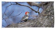 Red-bellied Woodpecker 1134 Hand Towel by Michael Peychich