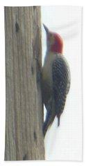 Red Bellied Woodpecker Bath Towel