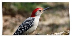 Red-bellied Woodpecker Bath Towel by Sheila Brown