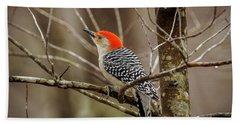Red Bellied Woodpecker Hand Towel