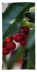 Red Berry Hand Towel