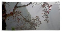 Red Blossoms  Vietnam  Bath Towel by Chuck Kuhn