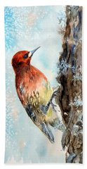 Red-breasted Sapsucker Hand Towel
