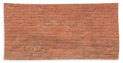 Hand Towel featuring the photograph Red Brick Wall by James BO Insogna