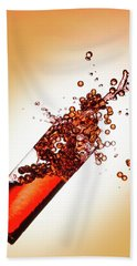 Red Bubble Splash Hand Towel by Brian Caldwell