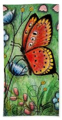 Red Butterfly Hand Towel