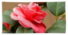 Red Camelliafresno Ca Bath Towel