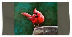 Red Cardinal Hand Towel