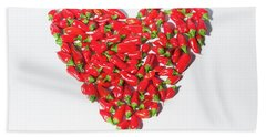Red Chillie Heart II Bath Towel