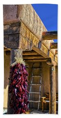 Red Chillies At New Years Bath Towel