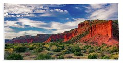Red Cliffs Of Caprock Canyon 2 Bath Towel