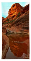 Red Cliffs Reflections Hand Towel