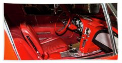 Red Corvette Stingray Bath Towel