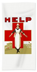 Red Cross Nurse - Help Bath Towel
