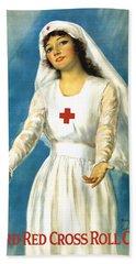 Red Cross Nurse - Ww1 Hand Towel